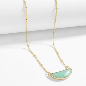 ISABEL Green Stone Pendant Necklace